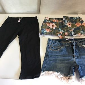 Adorable jean shorts bundle! Sz 14 & Sz 000.